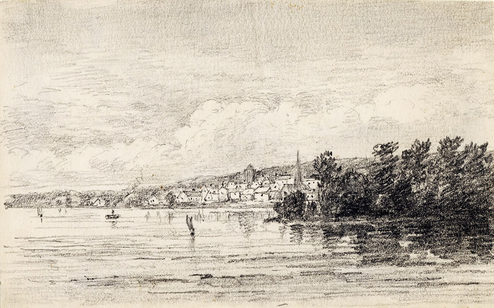 A sketch by George White of Orillia in 1872. Public Domain from the Toronto Library Virtual Archives.
