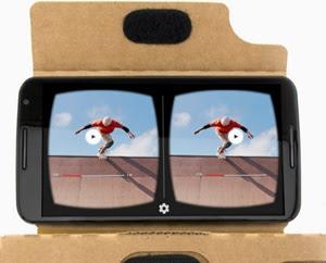 tampilan gambar VR dari Google cardboard