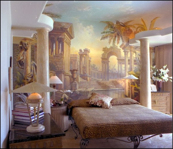 Roman Style Interior Design Bedroom Greek Home - Home Living Now ...