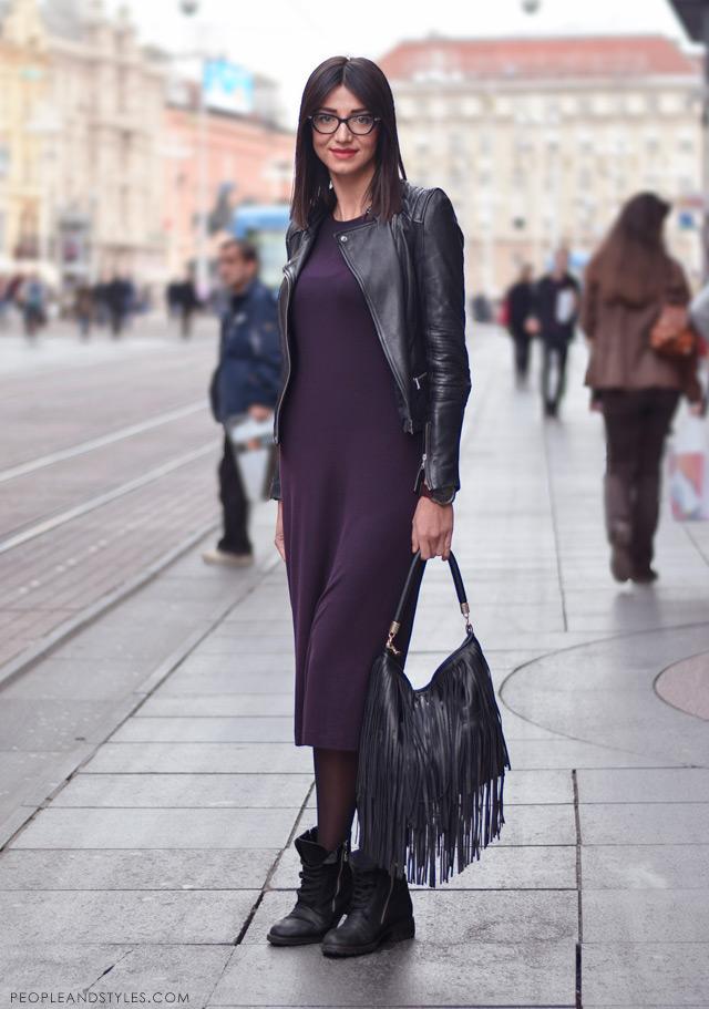 Maja Vrdoljak, stajlinzi s bajkerskom jaknom, ulična moda
