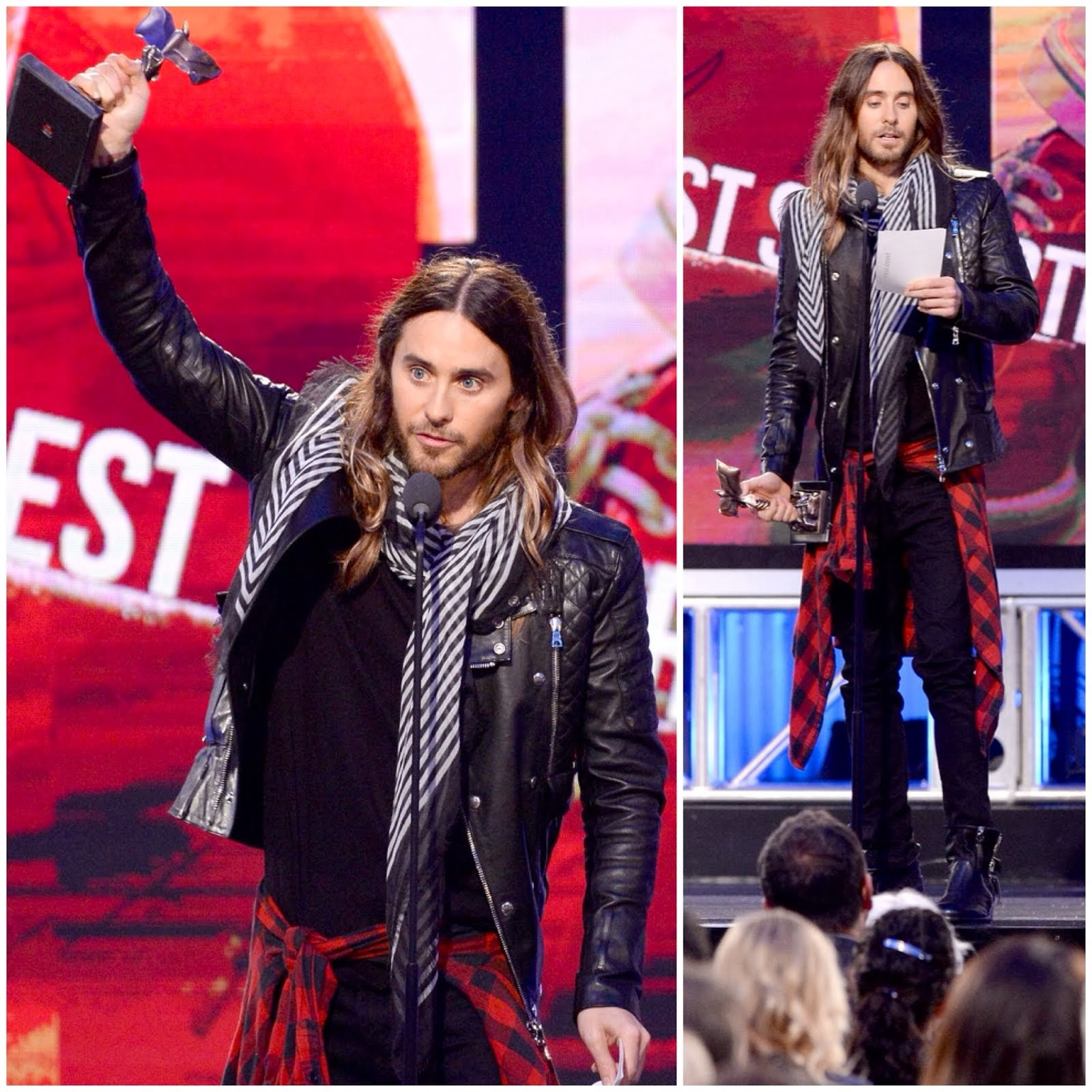 Jared Leto in Balmain - 2014 Film Independent Spirit Awards