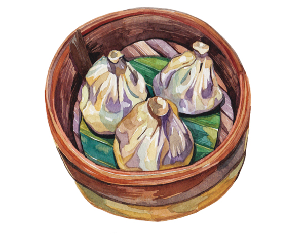 Chinese Dumpling Drawing Chinese Xiao Long Bao