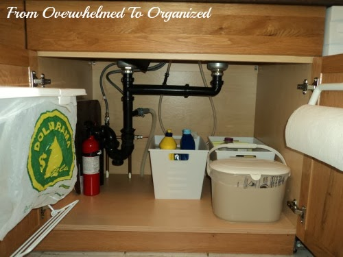 Tips for Organizing Under The Kitchen Sink | From Overwhelmed to ...