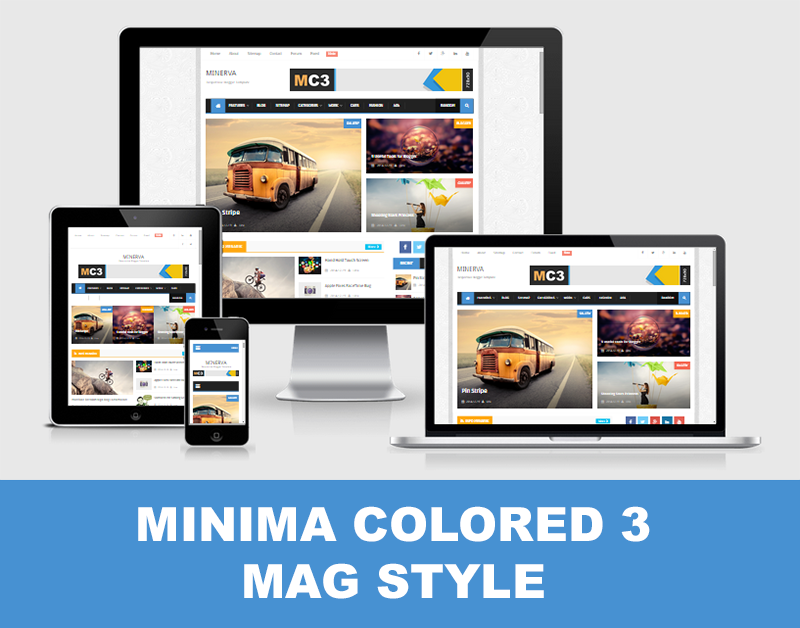 Download Template Minima Colored 3 Mag Style