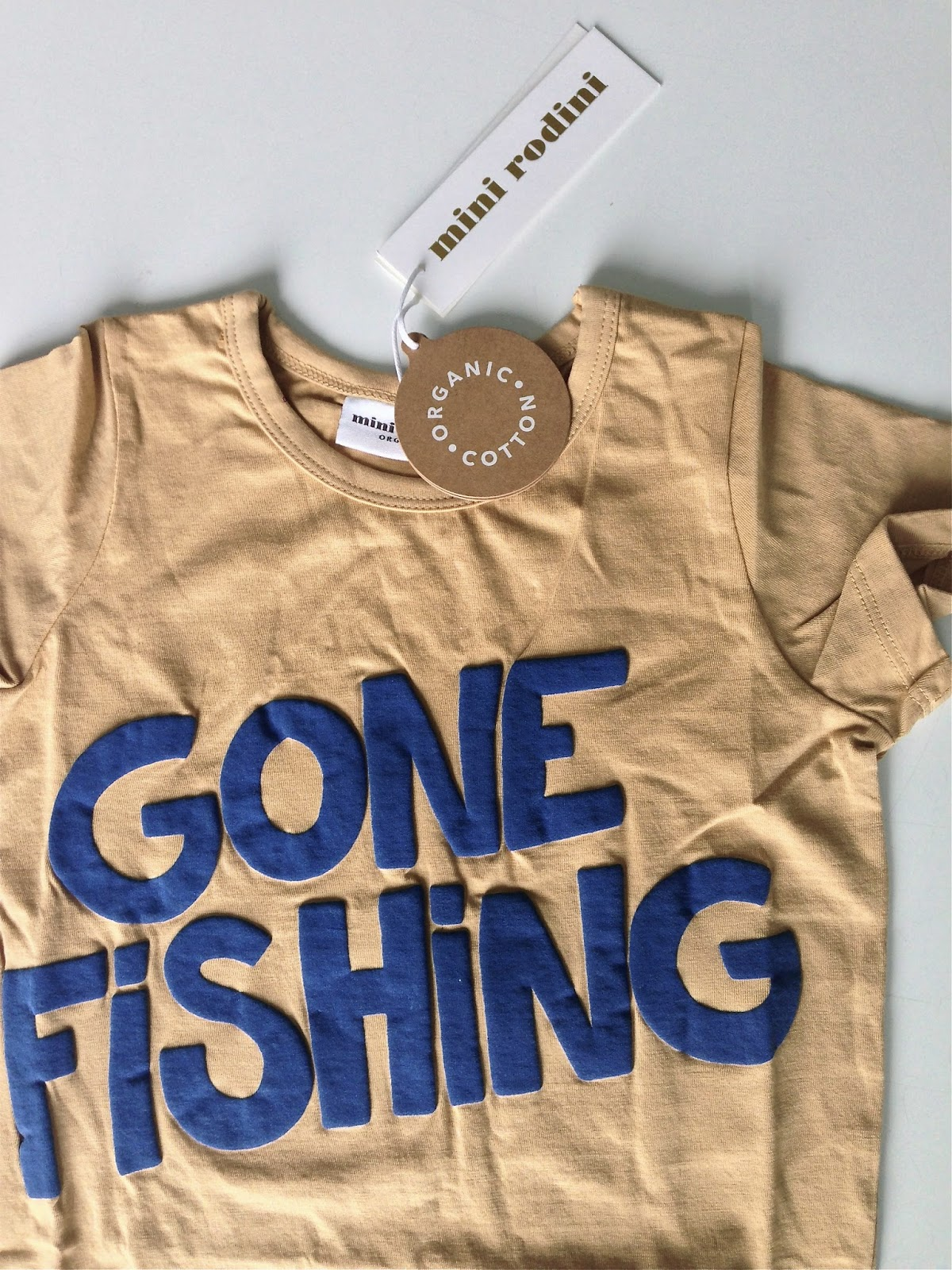 Mini Rodini ss15, gone fishing tee