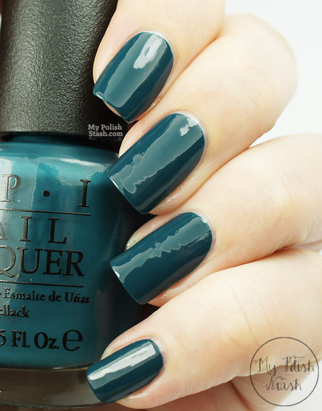 deep teal nail polish