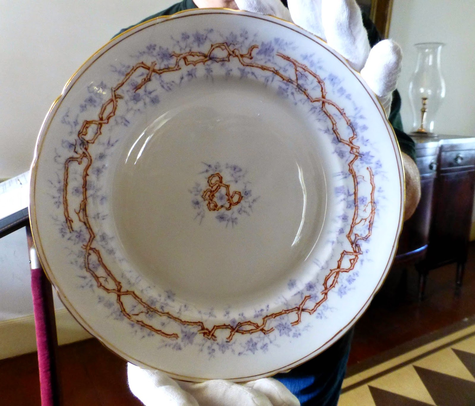 Purple Funeral China at Kent Plantation House & Mary Clark Traveler: Family Offerings in Alexandria Louisiana