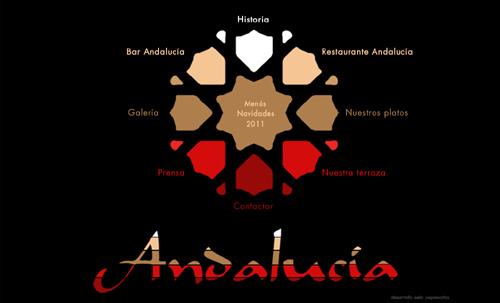 página web del Bar Restaurante Andalucía, local de diseño en la sierra de Huelva, en Santa Olalla del Cala