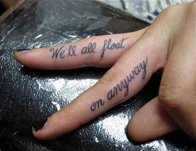 finger tattoos tumblr