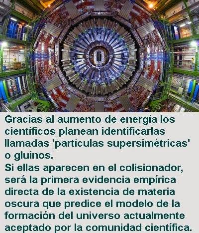 MUNDO: Científicos reinician el Colisionador de Hadrones para resolver el misterio de la materia os
