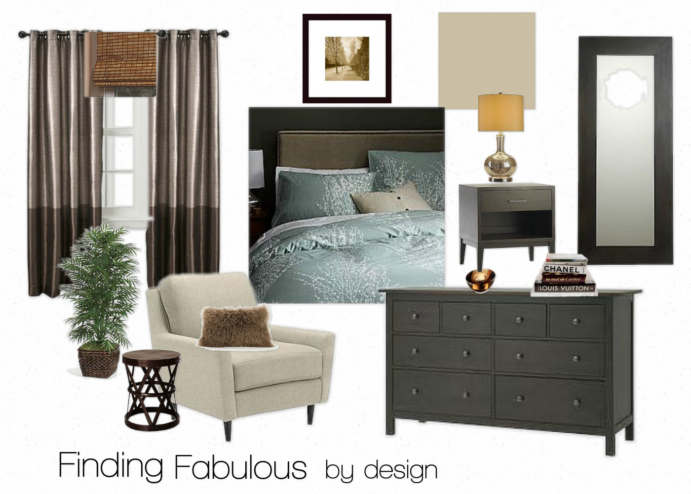 Finding Fabulous: Affordable Master Bedroommood board design