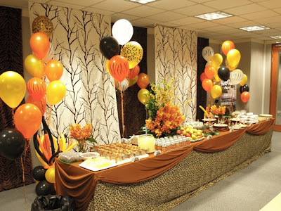 Pretty parties african safari party for African party decoration ideas