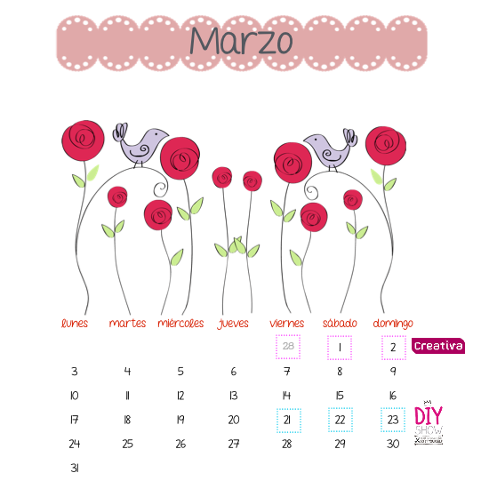 CALENDARIO IMPRIMIBLE FREEBIE BY PITIS&LILUS