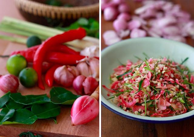 ingredients for kerabu mee hoon