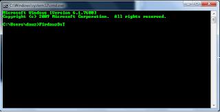 Cara merubah warna tulisan pada CMD