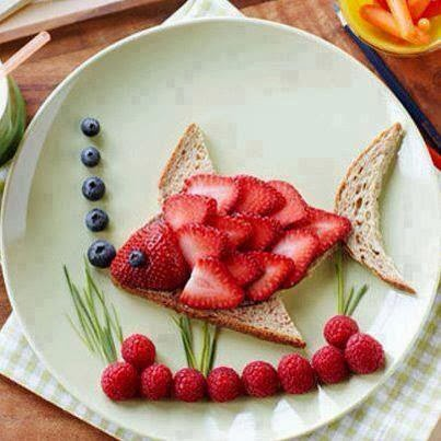 nice creation from strawberry and bread