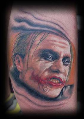 Imagens de tattoos do Coringa do Batman