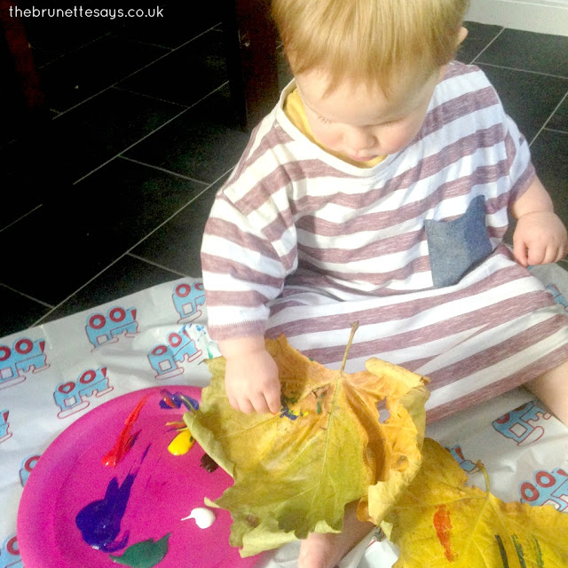 autumn activities, activities for 1 year olds, leaf painting