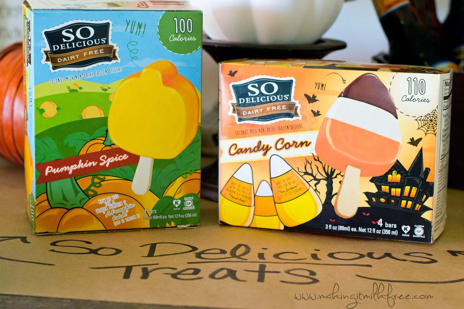 #glutenfree #dairyfree #allergyfriendly #halloween #fall #treats #icecream