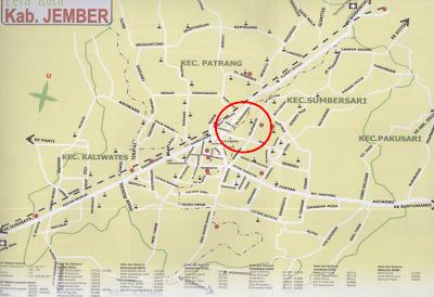 Peta Jember
