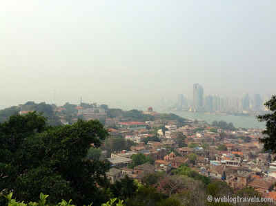 view of xiamen from gunlangyu island