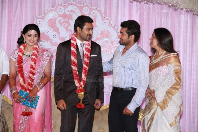 Actress Sneha and Prasanna Marriage Reception Stills