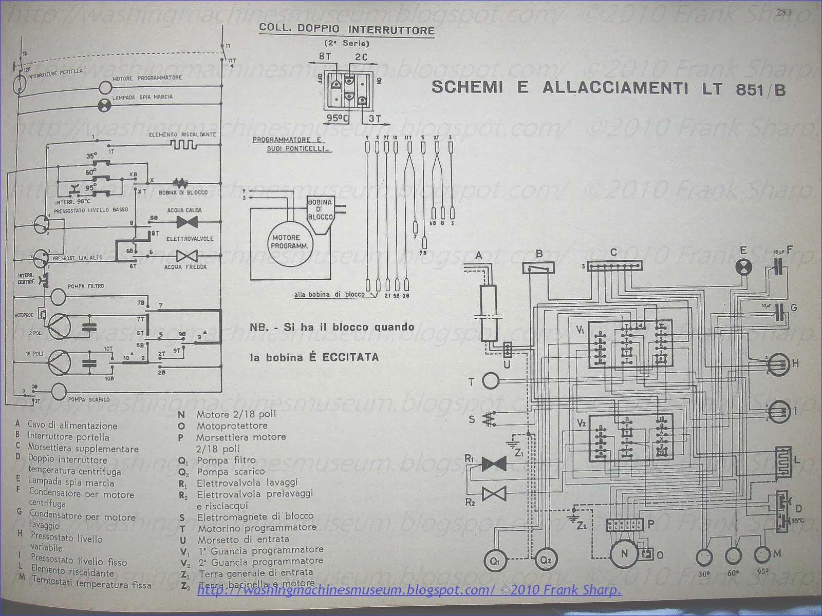 Washer Rama Museum Zerowatt Mod Lt851 B Schematic Diagram Click For Full