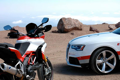 Audi teamed up with Ducati at Pikes Peak to celebrate their common heritage at this iconic mountain. In the spirit of coming together, they have something special in store for their biggest fans