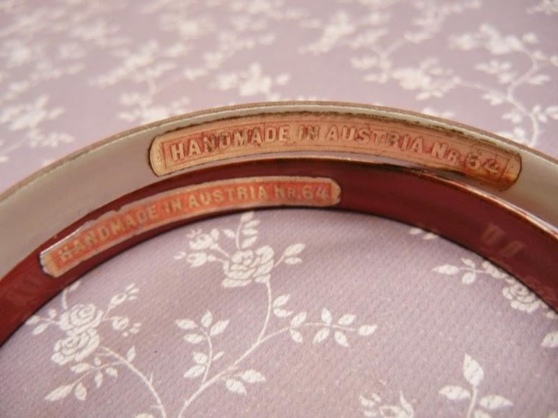L 39 oiseau acess rios vintage braceletes esmaltados anos 70 for Ta 2s 0138