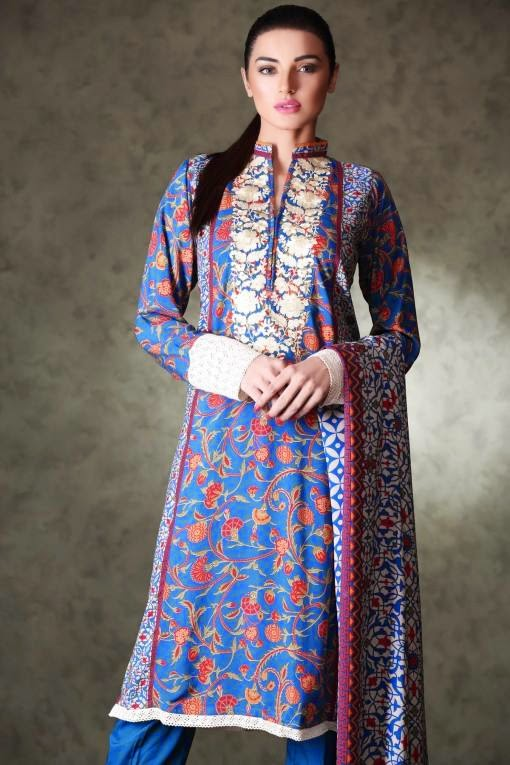 Un-Stitched Winter Wear Dresses 2015