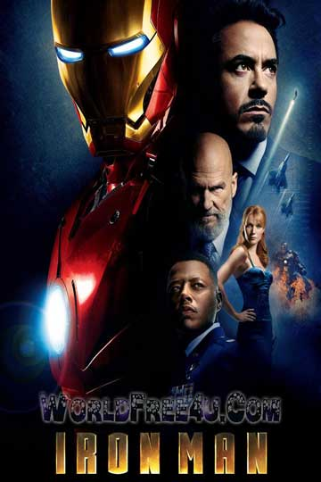 Poster Of Iron Man (2008) Full Movie Hindi Dubbed Free Download Watch Online At worldfree4u.com