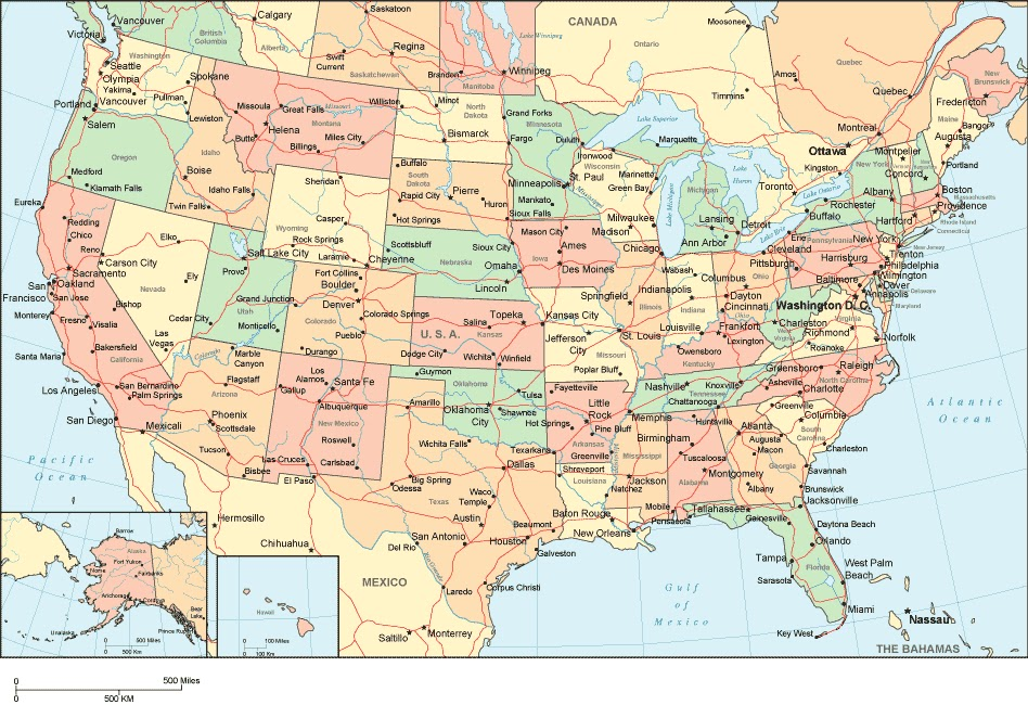 Macabre Republic Most Gothic Place Names In The United States - United states map with cities