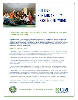 School Administrator, Facility Manager Carpet Sustainability Facts