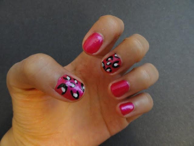 leopard nail design, revlon nail polish
