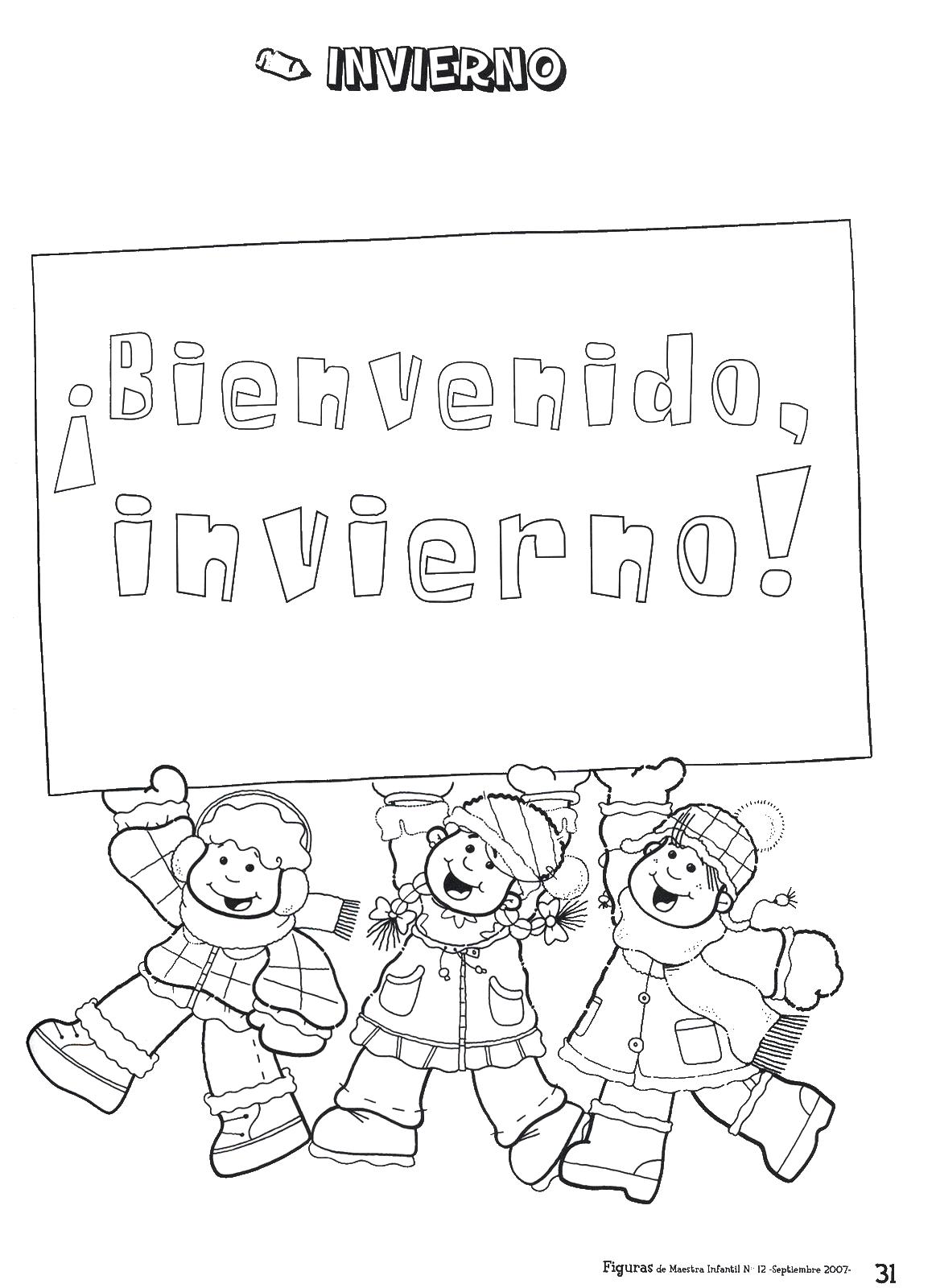 Mi Mundo Infantil: CARTELES DE INVIERNO