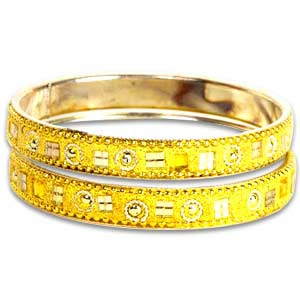 indian bangle set golden yellow