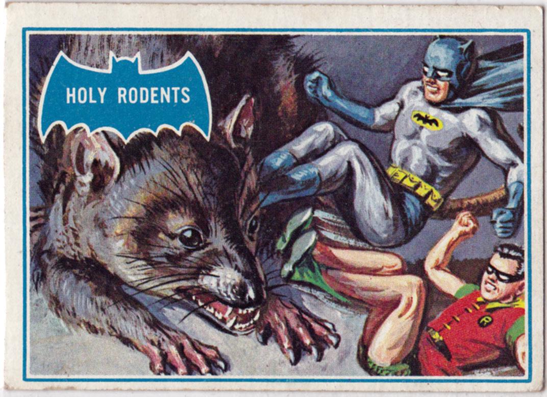 the bat channel vintage 1960s batman trading cards