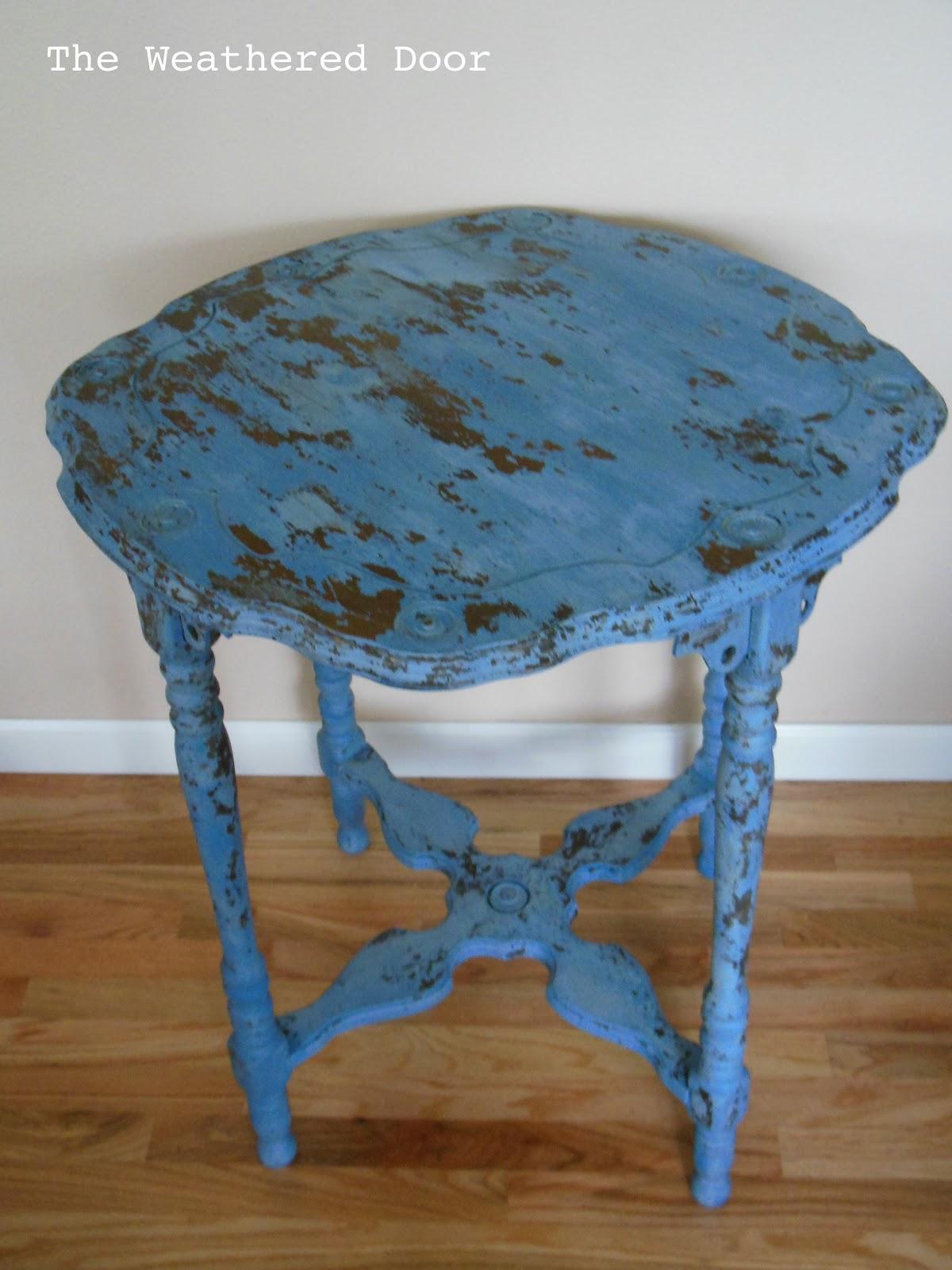 Federal Blue Milk Paint Table