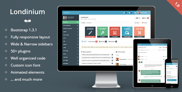 WP admin template
