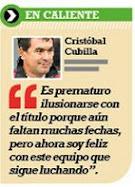 """Cristtobal Cubilla: """"Soy feliz con este equipo"""""""