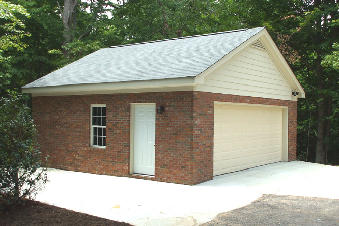 brick laminate picture brick garage construction. Black Bedroom Furniture Sets. Home Design Ideas