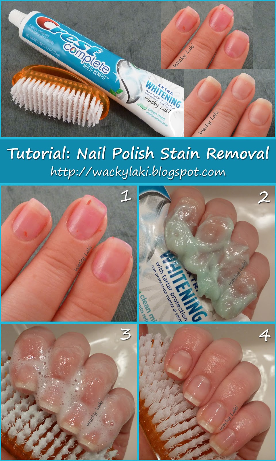 wacky laki tutorial tuesday nail polish stain removal. Black Bedroom Furniture Sets. Home Design Ideas