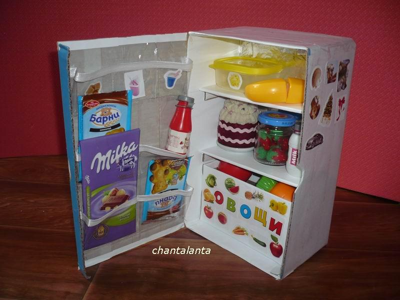 Как сделать своими руками холодильник для барби