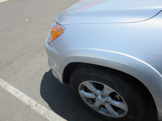 Fender on 2012 Rav4 after collision repairs at Almost Everything Auto Body