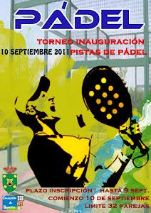 TORNEO INAUGURACIÓN PISTAS DE PÁDEL (10 SEPTIEMBRE)