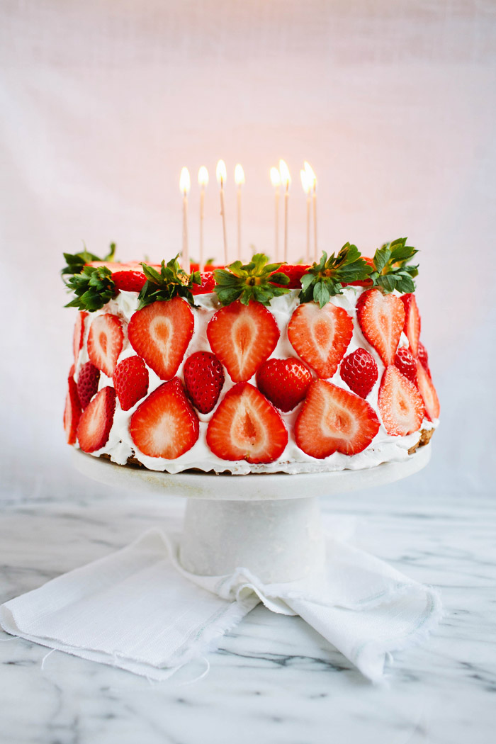 angel food cake, strawberries, birthday cake, strawberry cake, brittany wood