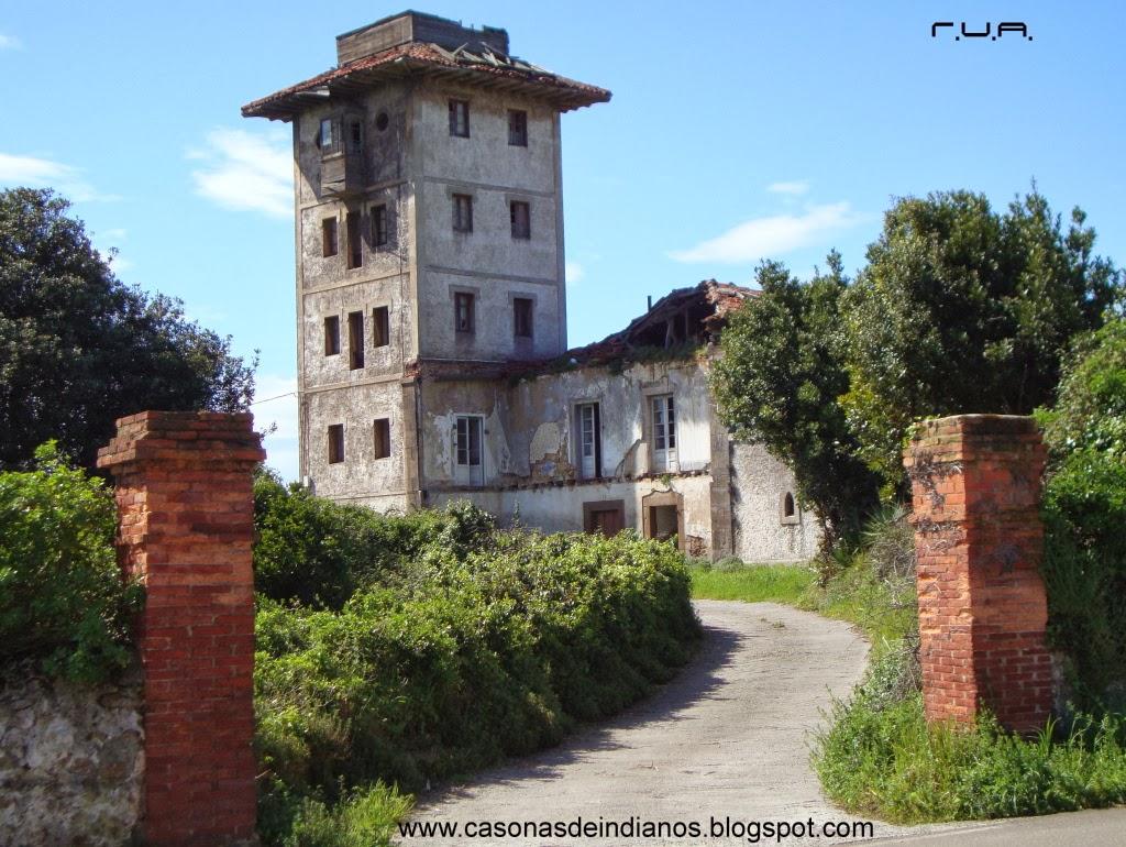 Casonas de indianos 296 torre del difunt n o casa bango ambiedes goz n - Casa de asturias madrid ...