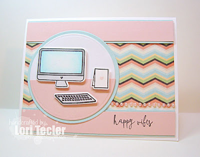 Happy Vibes card-designed by Lori Tecler/Inking Aloud-stamps from Mama Elephant