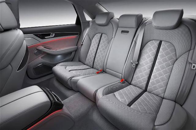2013 Audi S8 Sedan back sit Interior