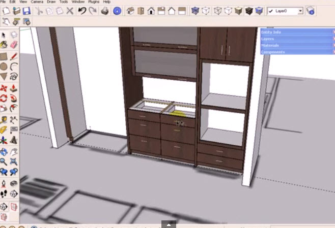 How To Use The Dynamic Component Cabinets In Sketchup Kitchen Design Drawing And Graphics